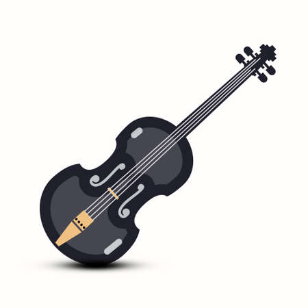 Violin Vector Musical Instrument Logo Design Isolated Ilustrace