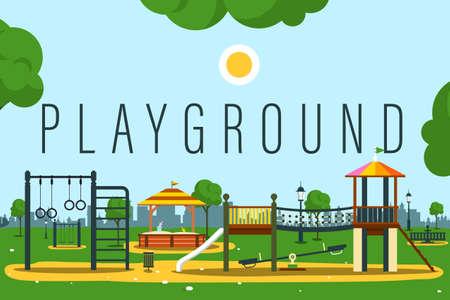 Empty Playground Vector Illustration Ilustrace
