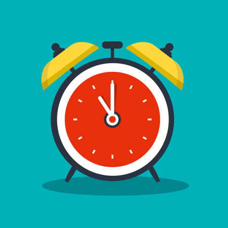 Alarm Clock Vector Icon - Analog Timer