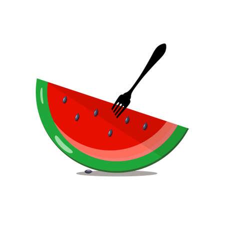 Watermelon Slice - Vector Melon Isolated