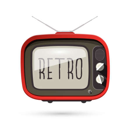 Vintage - Retro TV - Vector Old Television Isolated