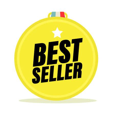 Best Seller Gold Medal Vector Symbol Ilustrace