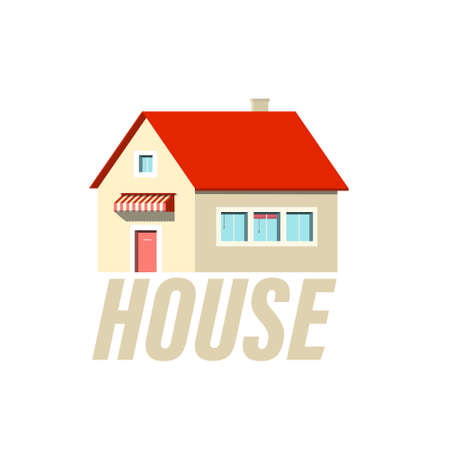 Family House Icon Isolated Vector Design Ilustrace