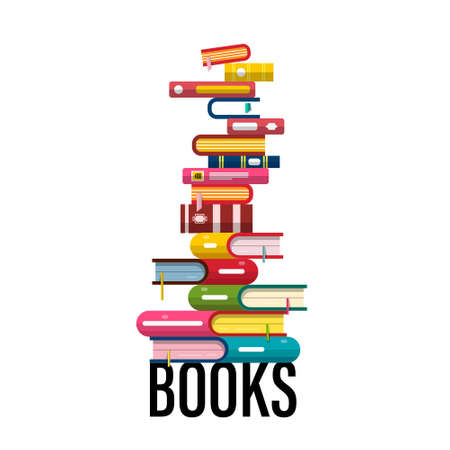 Pile of Books Vector Design Isolated