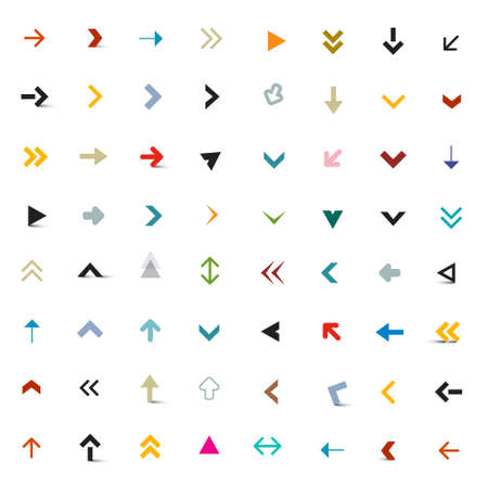 Arrows Set - Vector Arrow Icons Isolated on White Background