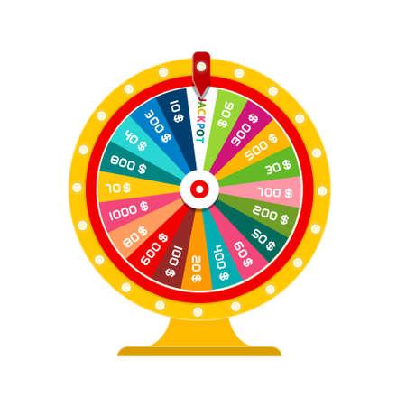 Wheel of Fortune Jackpot Vector Design Isolated Reklamní fotografie