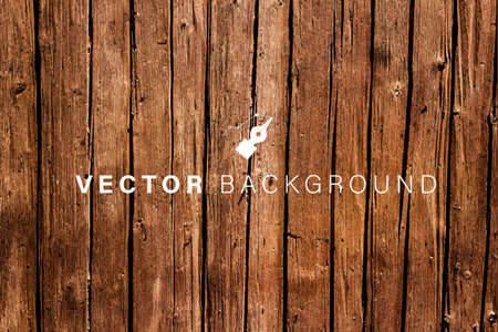 Vector Weathered Wooden Background - Brown Wood Backdrop