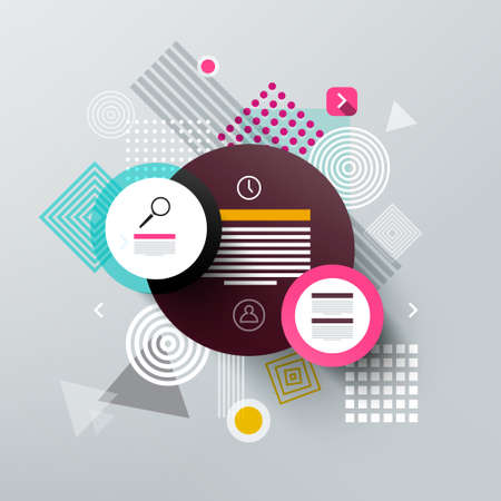 Abstract Web Background with Sample Texts in Circles Reklamní fotografie