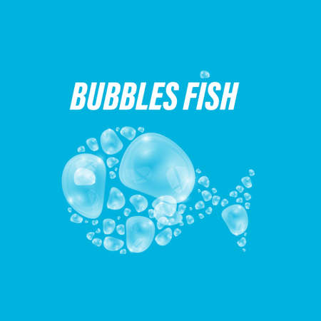 Fish Made from Bubbles Vector Illustration