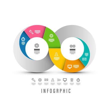 Infographic Design with Endless Icon - Vector Infographics Layout with Infinity Symbol Ilustrace