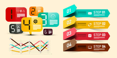 Infographic Data Paper Layout with Numbers Vector Design Ilustrace