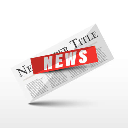 News Icon - Vector Newspapers Isolated Symbol Ilustrace