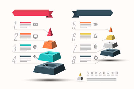 Pyramid Infographic Design - Vector Infographics Concept Ilustrace