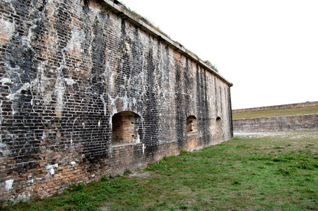 Florida, Fort Pickens, Pensacola, sea grass, sea oats, Sunset, old brick, decaying building, falling down building, exposed brick, bunker, wild flowers