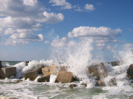 alexandria: colored blowing waves in alexandria Stock Photo