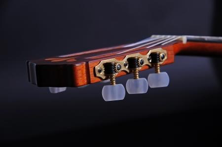 classical mechanics: Mechanics of a classical guitar Stock Photo