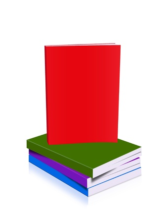 bookcover: Book stack colorful Stock Photo