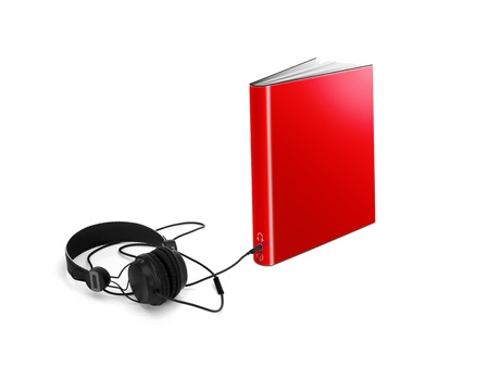 Audio book on white photo
