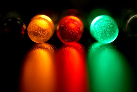 diode: color leds, light-emitting diode Stock Photo
