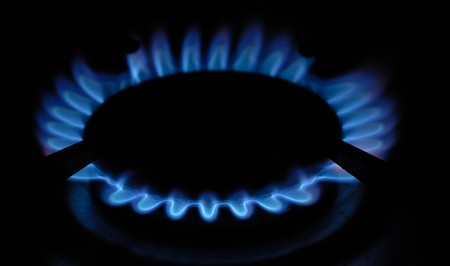 methane: gas ring, methane, fire