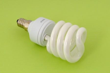 ahorro energia: l�mpara fluorescente de ahorro de energ�a  Foto de archivo