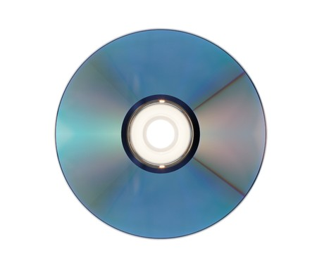 compact disk: compact disk, optical storage, on white