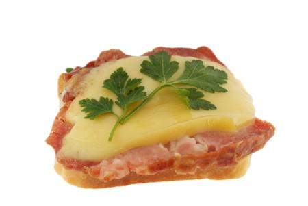 potherbs: s�ndwich en blanco, pan, carne, verduras, salsa de tomate