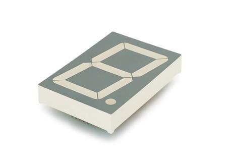 segment: LED indicatore di sette segmento, tecnologia a diodi, isolato Archivio Fotografico