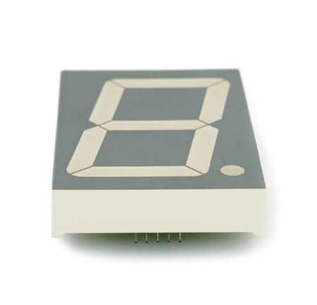 segment: LED indicatore di sette segmento, tecnologia di diodi, isolato Archivio Fotografico