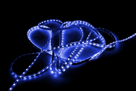 blue led strip photo