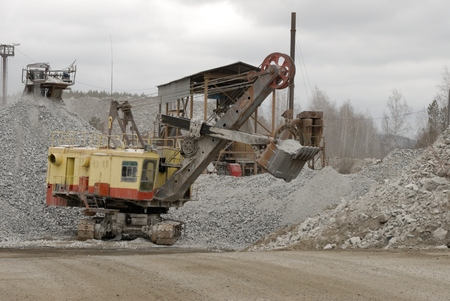 gravel mine photo