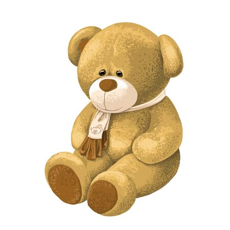 Teddy Bear - highly detailed, textured, realistic digital painting