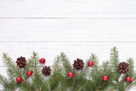fir tree: Christmas decoration with fir tree