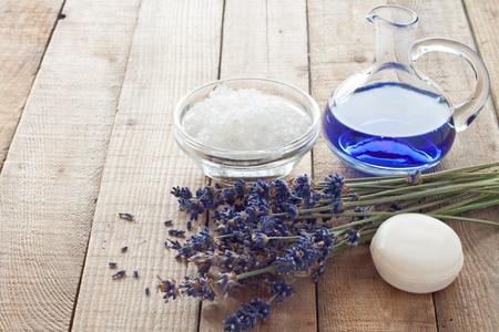 bath essence: Lavender flowers with soap, bath salt and bath oil