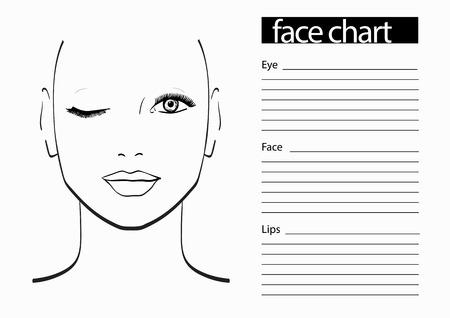 Tableau de Maquillage Artiste Blank. Template. Vector illustration. Banque d'images - 61056415
