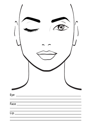 face chart makeup artist blank template vector illustration stock illustration 61056423