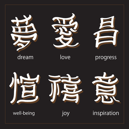 japanese script: vector set :kanji with translation