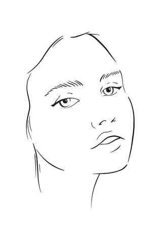 Gesichtsdiagramm Maskenbildner leer. Vorlage. Vektor-Illustration. Vektorgrafik