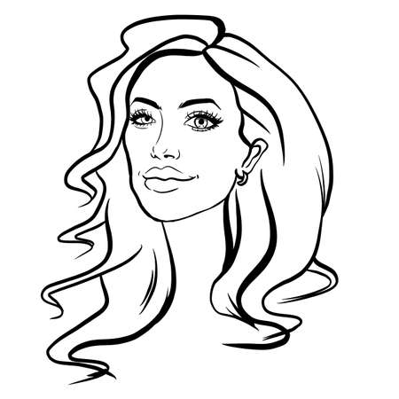 February 02, 2020: A sketch illustration portrait of American actress, filmmaker, and humanitarian Angelina Jolie Pitt.