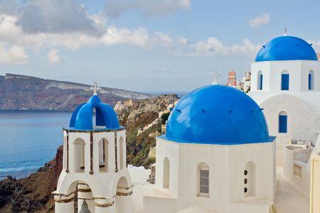santorini greece: Oia, Santorini, Greece Stock Photo