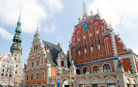 House of the Blackheads in Town Hall Square, Riga, Latvia