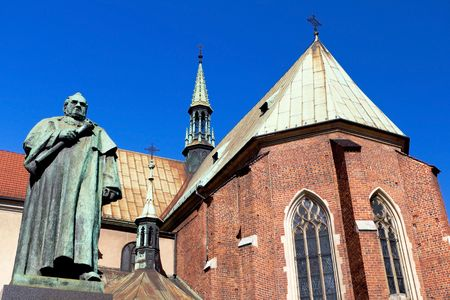 dr: Monument of Dr. Jozef Dietl at St. Francis Church in Krakow Stock Photo