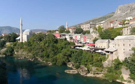 Tourists Peruse the Colorful Shops in the Old Town of Mostar On September 24, 2010 in Mostar, Bosnia and Herzegovina