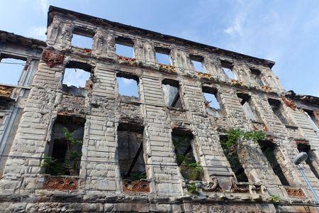 bombed: Bombed Building in Mostar, Bosnia and Herzegovina