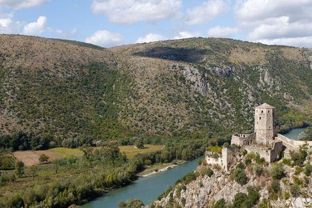 Pocitelj Fortress on the Neretva River Near Mostar, Bosnia and Herzegovina photo