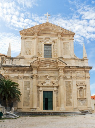 jesuit: Church of St. Ignatius and the Jesuit College in the Historic Old Town of Dubrovnik, Croatia