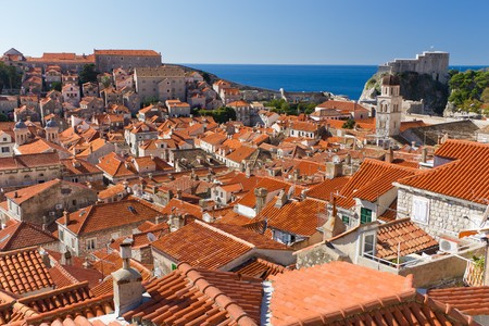Red Rooftops in the Historic Old Town of Dubrovnik, Croatia on the Adriatic Coast photo