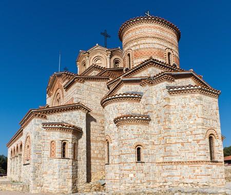 former yugoslavia: St. Panteleimon Monastery in Ohrid, Macedonia
