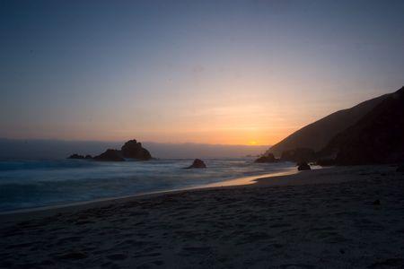 Big Sur Sunset Stock Photo - 2822554