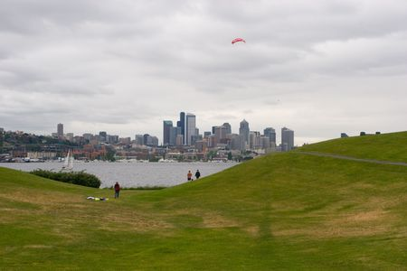 wallingford: Gas Works Park Stock Photo